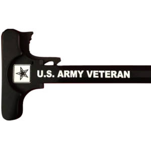 AR-15 Laser Engraved Charging Handle –Army Veteran