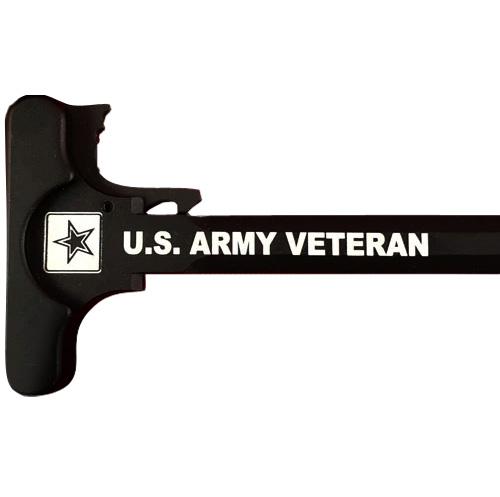 AR-15 Laser Engraved Charging Handle –Army Veteran