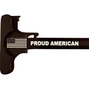AR-15 Laser Engraved Charging Handle –Proud American