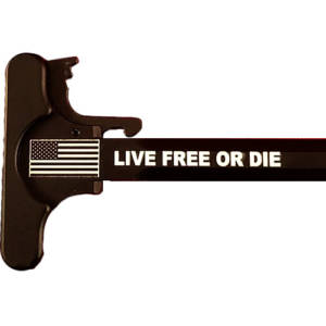 AR-15 Laser Engraved Charging Handle –Live Free Or Die