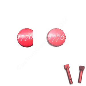 Red Anodized AR-15 Extended Takedown Pins - 1776