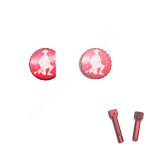 Red Anodized AR-15 Extended Takedown Pins - 1776 project