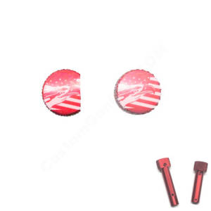 Red Anodized AR-15 Extended Takedown Pins - Eagle Flag