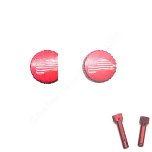 Red Anodized AR-15 Extended Takedown Pins - 1776 waving flag