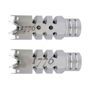 .223/5.56 1/2″X28 Shark Muzzle Brake Stainless Laser Engraved - 1776
