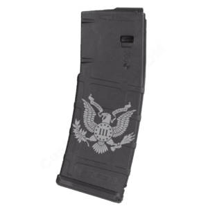 AR15 Magazine Magpul Pmag 30rd laser engraved - Three percenter eagle