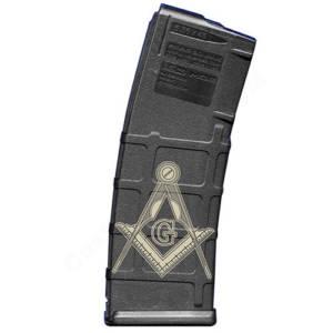 AR15 Magazine Magpul Pmag 30rd laser engraved - Freemasonry
