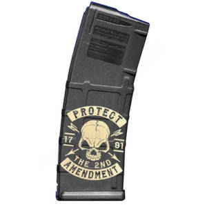 AR15 Magazine Magpul Pmag 30rd laser engraved - Protect the 2nd Amendment