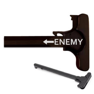 AR-15 Laser Engraved Charging Handle - Enemy arrow