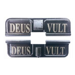 AR-15 Ejection Port Laser Engraved - DEUS VULT