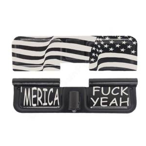 AR-15 Ejection Port Laser Engraved - Merica fuck yeah