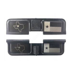 AR-15 Ejection Port Laser Engraved - Texas map flag