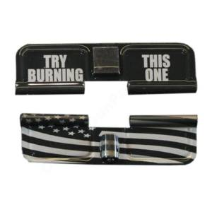 AR-15 Ejection Port Laser Engraved - Try burning this one