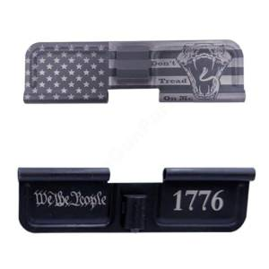 AR-15 Ejection Port Laser Engraved - We the people 1776 flag
