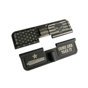 AR-15 Ejection Port Laser Engraved - US Flag Punisher Come and take it