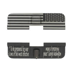 AR-15 Ejection Port Laser Engraved - US Flag To be prepared for war