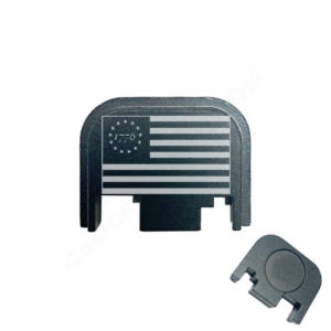 Glock Back Plate Laser Engraved - 1776 Flag