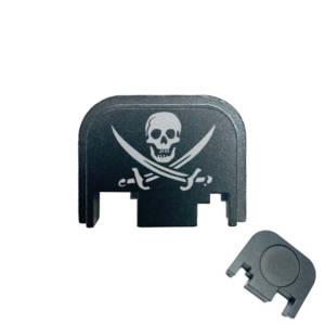 Glock Back Plate Laser Engraved - Pirate Flag