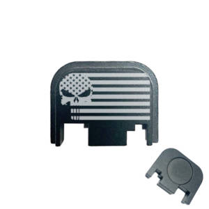 Glock Back Plate Laser Engraved - Punisher Skull US Flag