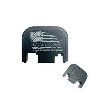 Glock Back Plate Laser Engraved - US Flag We the people