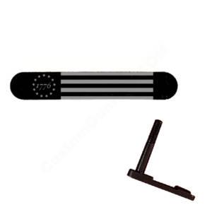 AR-15 Magazine Catch Laser Engraved - 1776 Flag
