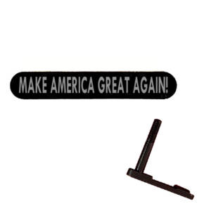 AR-15 Magazine Catch Laser Engraved - MAKE AMERICA GREAT AGAIN!