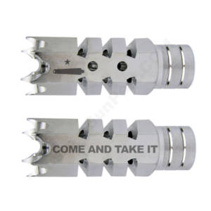 .223/5.56 1/2″X28 Shark Muzzle Brake Stainless Laser - Come and Take It
