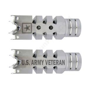 .223/5.56 1/2″X28 Shark Muzzle Brake Stainless Laser - US Army Veteran