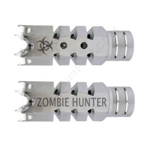 .223/5.56 1/2″X28 Shark Muzzle Brake Stainless Laser - Zombie Hunter