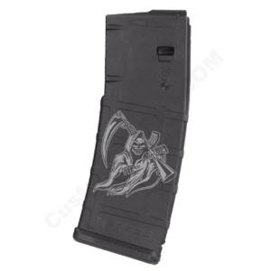 AR15 Magazine Magpul Pmag 30rd laser engraved - the Grim Reaper