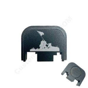 Glock Back Plate Laser Engraved - Battlefield Brave