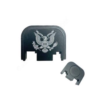 Glock Back Plate Laser Engraved - Three Percenter Eagle