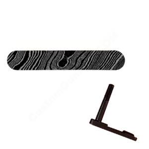 AR-15 Magazine Catch Laser Engraved - Damascus Steel Pattern