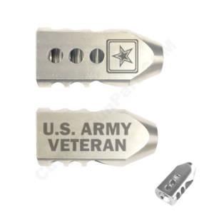 .223/5.56 TANKER Stainless STEEL MUZZLE BRAKE Laser - US Army Veteran