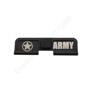 AR-15 Ejection Port Laser Engraved - Army Star