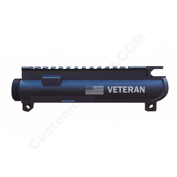 AR-15 UPPER RECEIVER ENGRAVED- US Flag Veteran