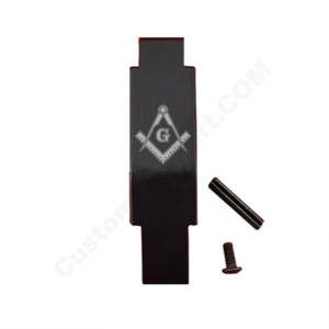 AR-15 Trigger Guard Laser Engraved - Freemason