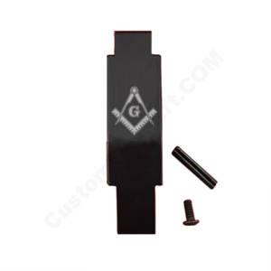 AR-15 Trigger Guard Laser Engraved - Freemason